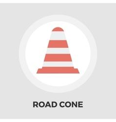Road Cone icon flat vector image vector image
