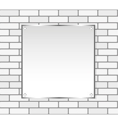 Silver frame on a white wall vector
