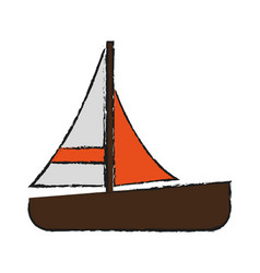 single sailboat icon image vector image