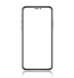 smartphone with blank white screen realistic vector image vector image