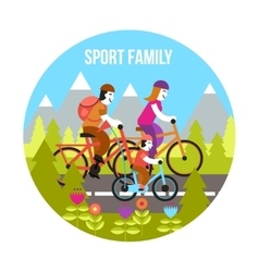 Sport Family Concept vector image