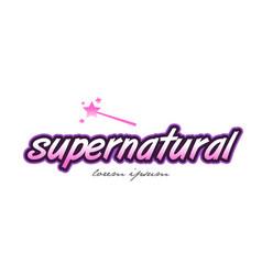 Supernatural word text logo icon design concept vector