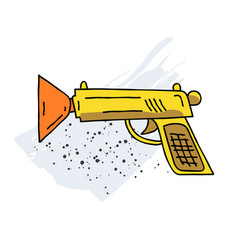 toy gun cartoon hand drawn image vector image