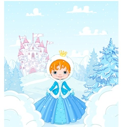 Winter princess vector