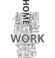 Work from home text word cloud concept vector