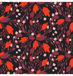 Organic floral pattern in rich warm colors vector