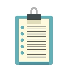 Document plan icon flat style vector