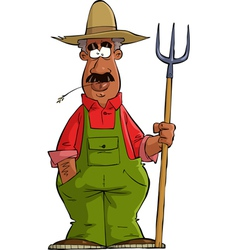 Black farmer vector