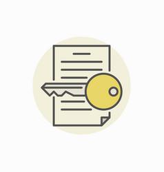 keyword finding icon vector image