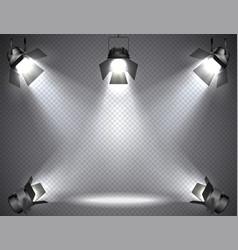 Spotlights with bright lights vector