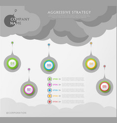 Abstract element for business strategy in stages vector