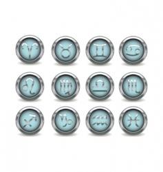 3d silver zodiac signs vector image vector image