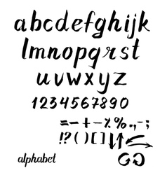 Alphabet hand drawn ink vector