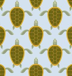Flock of sea turtles Water turtle seamless pattern vector image