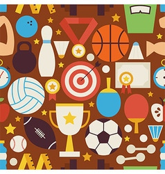 Sport recreation and competition flat design vector