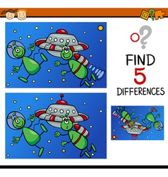 differences for preschoolers vector image