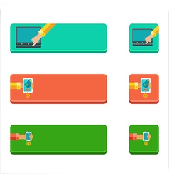 Set of flat buttons with people paying concepts vector