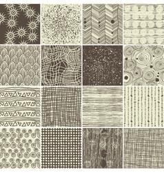 Various textures vector