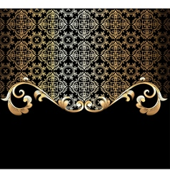 Background with a gold vector