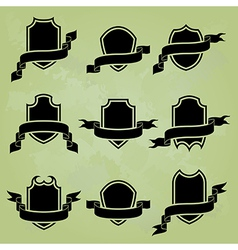 black award icons vector image