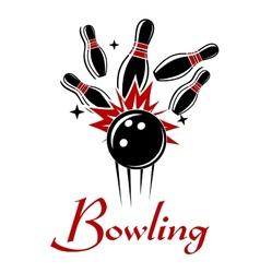 Bowling emblem or logo vector