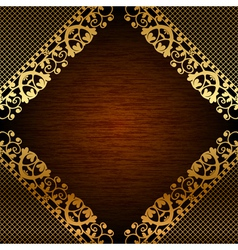 Brown ornate frame vector