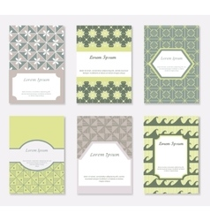 Cards and patterns set vector