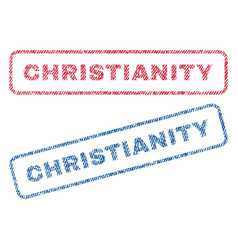 Christianity textile stamps vector