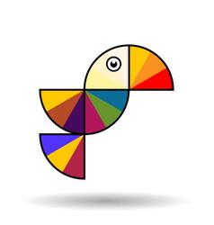 colorful bird in flight vector image