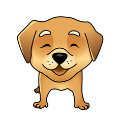 Cute happy dog vector