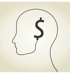 Dollar a head vector image vector image