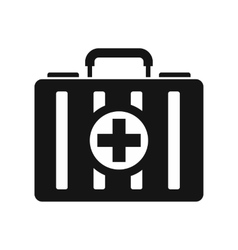 First aid kit icon simple style vector image