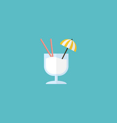 flat icon cocktail element of vector image