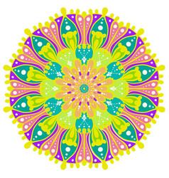 Flower color mandala vector