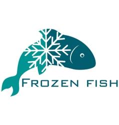Frozen fish vector