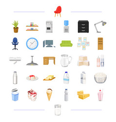 Furniture office electrical and other web icon vector