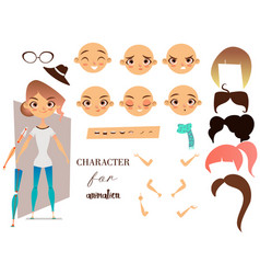 Girl character for your scenes and animation vector