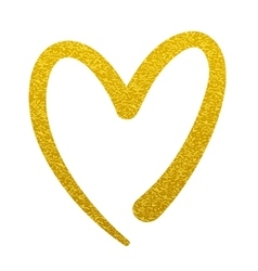 Gold paint heart love sign symbol logo vector