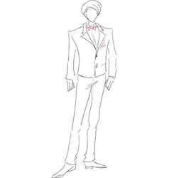 Groom sketch vector