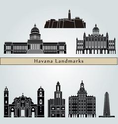 havana v2 landmarks vector image vector image
