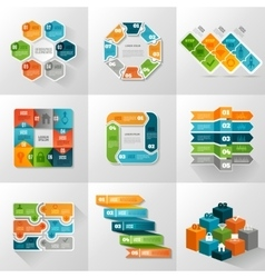 Infographic Templates Icons Set vector image vector image