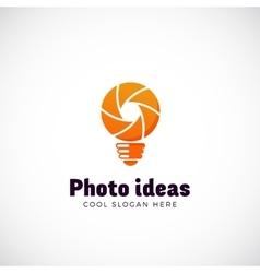 Photo ideas abstract logo template shutter vector