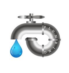plumbing design vector image