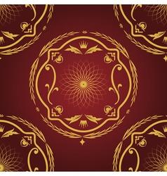 Seamless pattern vintage background vector