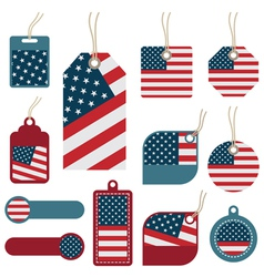 usa tags vector image vector image
