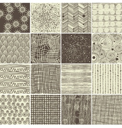 Various textures vector image