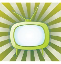 vector retro tv set vector image