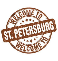 Welcome to st petersburg vector