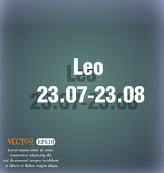 Leo zodiac icon on the blue-green abstract vector