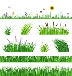 Grass seamless elements vector